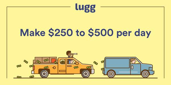 ✭Make $40 to $55 per hour with your truck/cargo van driving with Lugg✭ (redwood city)